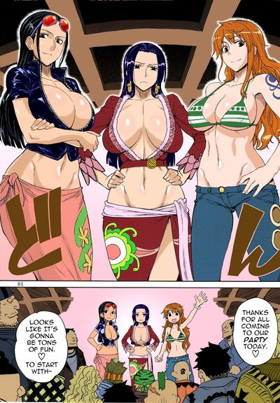 (C81) [Choujikuu Yousai Kachuusha (Denki Shougun)] MEROMERO GIRLS NEW WORLD (One Piece)  {doujin-moe.us} [Decensored]..