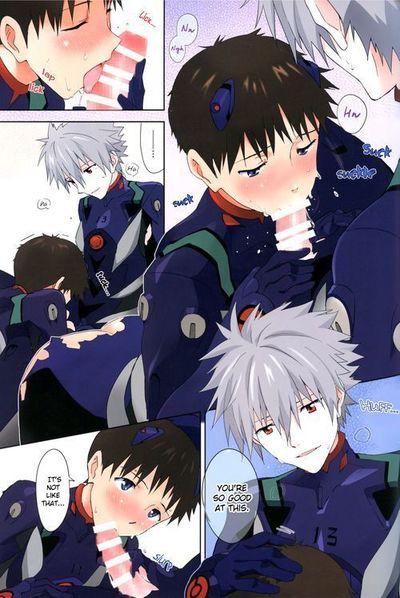 (C86) [cassino (Magarikoji Lily)] Plug Suit ga Sonna ni Biribiri de Dou suru no Shinji-kun! - With a plugsuit ripped..