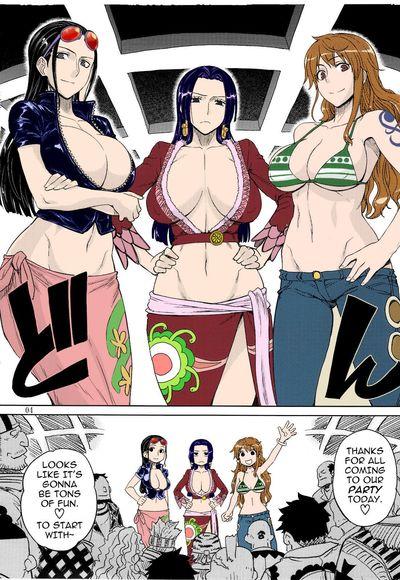 (C81) [Choujikuu Yousai Kachuusha (Denki Shougun)] MEROMERO GIRLS NEW WORLD (One Piece)  [darknight] [Decensored]..
