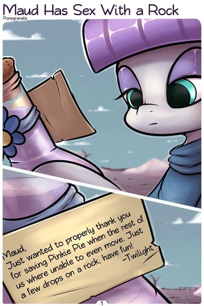 [Ponegranate] Maud Has Sex With a Rock (My Little Pony: Friendship is Magic)
