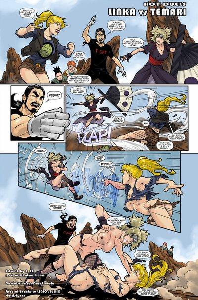 ร้อนแรง duels 1 - linka กับ temari
