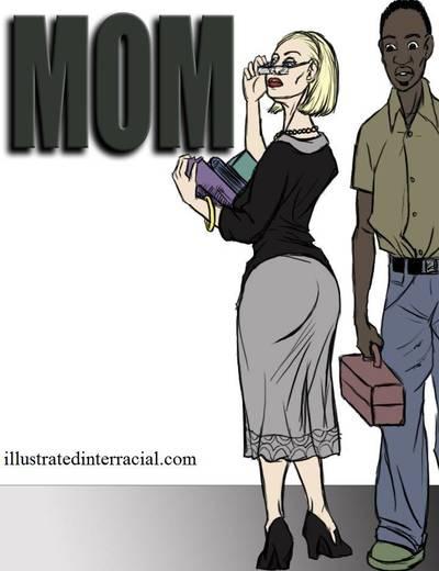 Mom- illustrated interracial