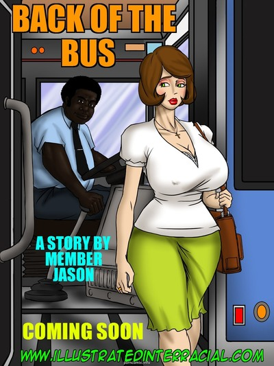 illustrated interracial- Back Of The Bus