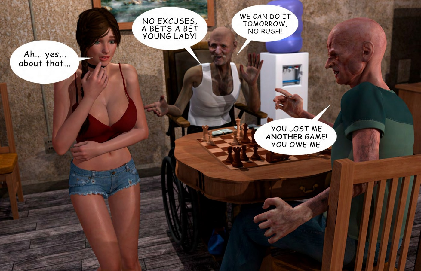 Lost Bet - Petra Helps The Elderly - part 3
