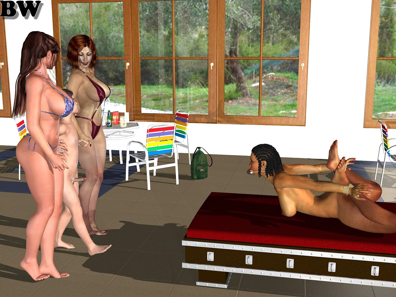 Hot sex with mother in pool- Incest