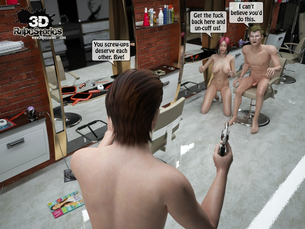 Two boys rape a woman at haircut- 3DStories - part 4