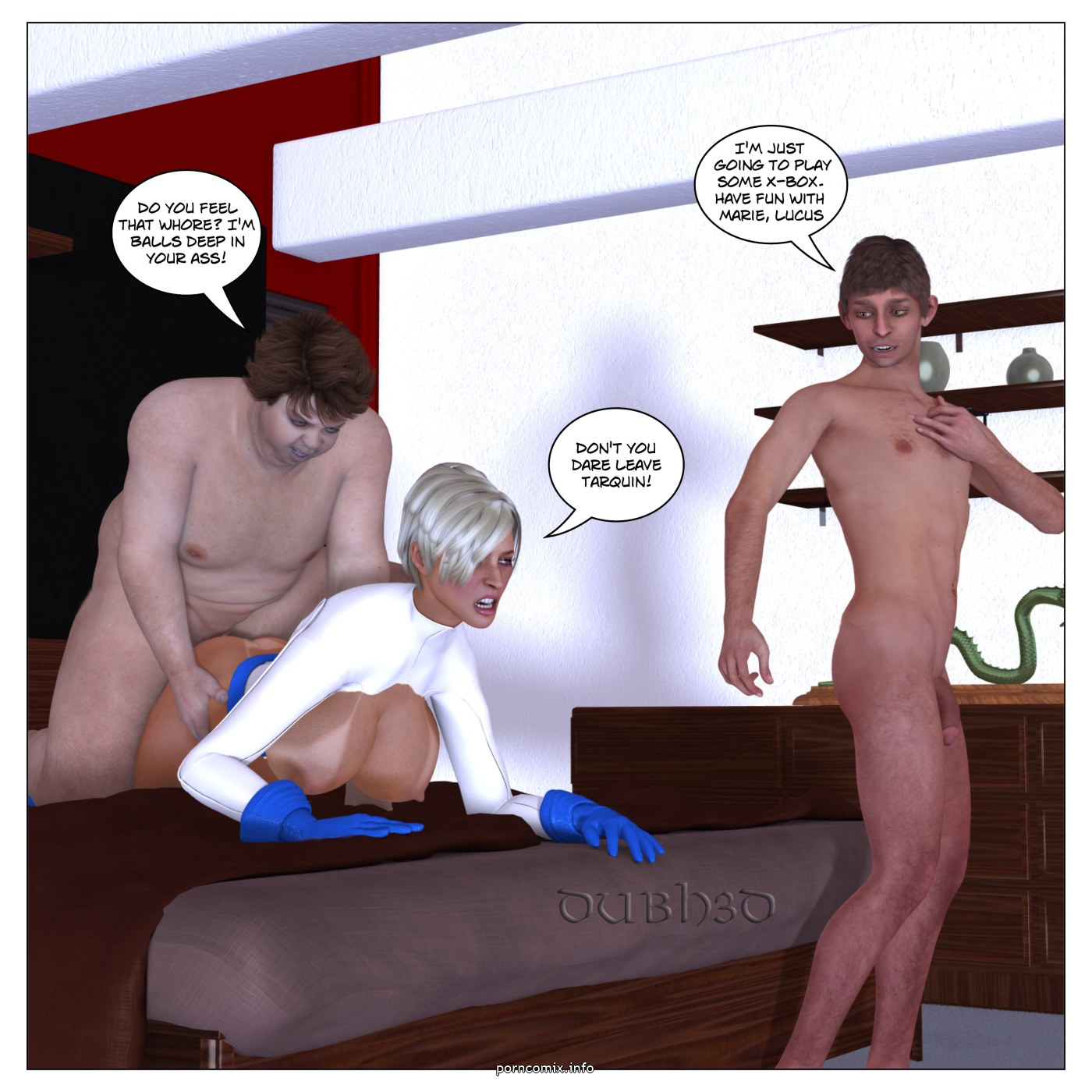 Marie Claude- Cosplay Threesome,Dubh3D