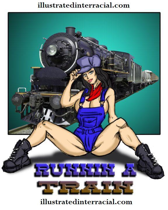 Runin A Train 1- illustrated interracial