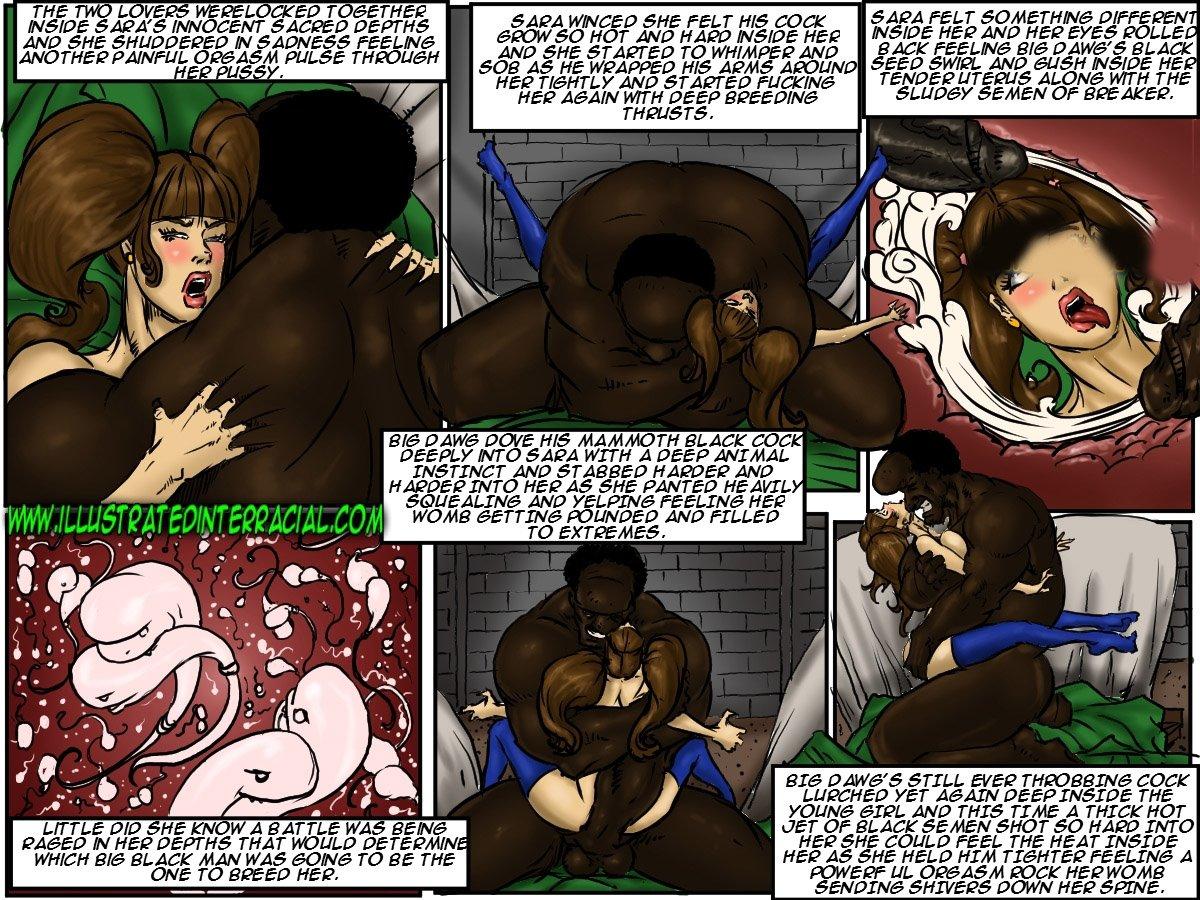 School Girl Sara- illustrated interracial - part 3