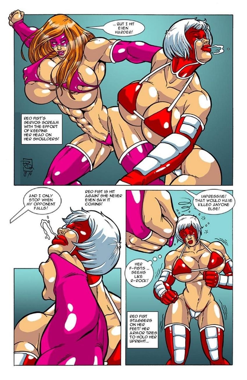 Omega Fighters 6 - Red Fist VS Titanya