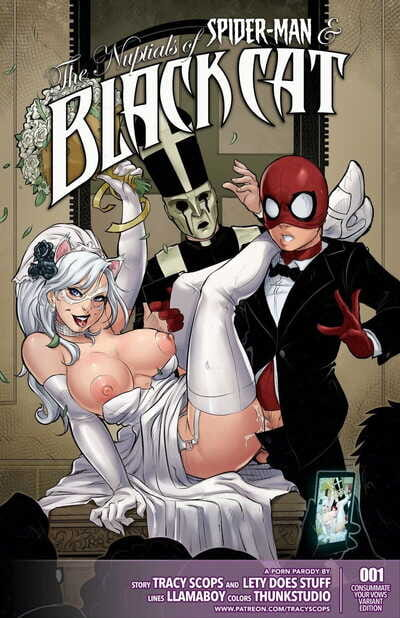 Tracy Scops Llamaboy The Nuptials of Spider-Man & Black Cat Spider-Man