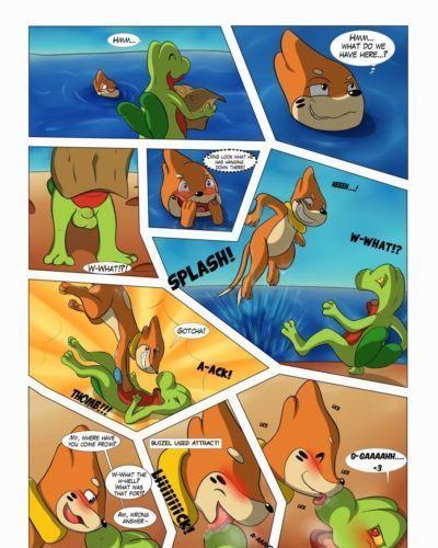 [Asbel_Lhant] Beach Dangers (Pokemon)