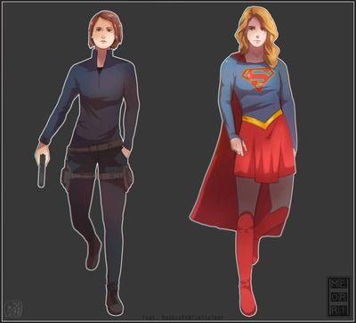 [BadAssPANTieStalker] Lena x Kara (Supergirl)